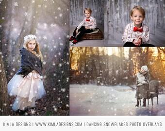 Dancing Snowflakes Photo Overlays