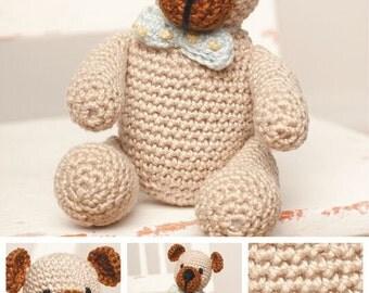 Crochet Pattern DMC Teddy Bear Hair Bow Petra Thread