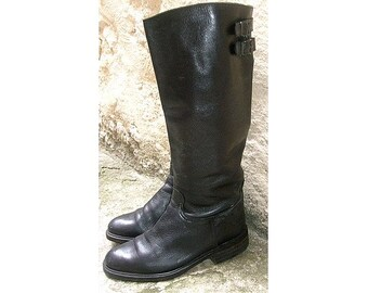 EQUESTRIAN  BOOTS black leather us5  fr36   uk4  made in italy