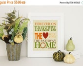 ONSALE Thanksgiving Decor -  Home Decor - Thanksgiving Word Art Wilbur Nesbit Quote