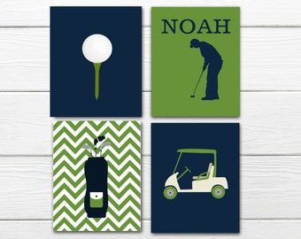 Golf Themed Decor - Boy - Custom Colors - Golf Nursery Decor