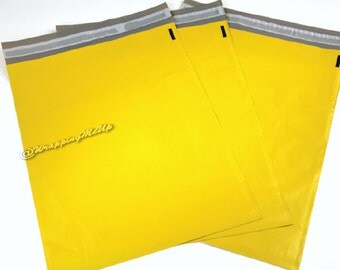 50 Pack NEW  -12x15.5  ~Yellow Poly Mailers, Flat Poly Mailing Shipping Bags, Poly Mailer Shipping Envelope Plastic Shipping Bags