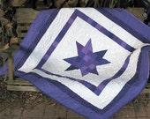 Quilt - Baby Quilt - Purple Baby Girl Quilt - Purple Star