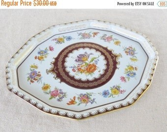 On Sale Vintage Shabby Chic/Cottage Style Daher Serving Tray
