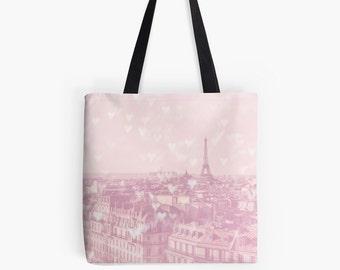 Paris Tote Bag - Paris bag - Pink Paris Bag