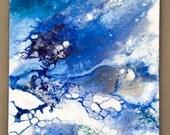 Minima Blue/ mixed technique/Acrylic on canvas