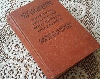 Vintage Emily Holt Etiquette Book