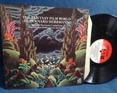 "RARE, Vintage, ""The Fantasy Film World Of Bernard Herrmann"" Soundtrack, Vinyl LP Record Album, The Day The Earth Stood Still, Fahrenheit 451"