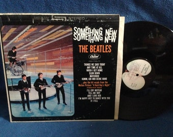 """RARE, Vintage, The Beatles - """"Something New"""", Vinyl LP Record Album, Original Apple Press, Beatlemania, I'll Cry Instead, And I Love Her"""