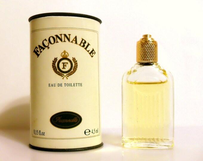 Vintage 1990s Faconnable for Men 0.15 oz Eau de Toilette Mini Miniature COLOGNE and Box
