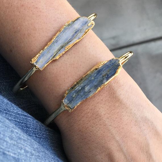 Kyanite Cuff bracelets, boho chic