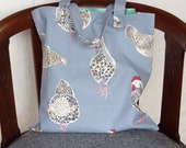 Cotton Tote , shopping bag ,  chickens and hens , folding, sale