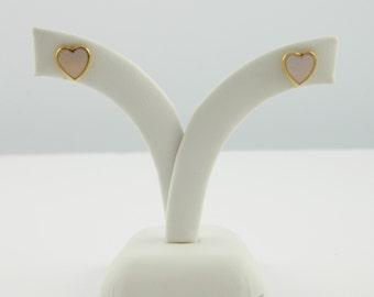 Lilac Enamel Heart Studs - OE028