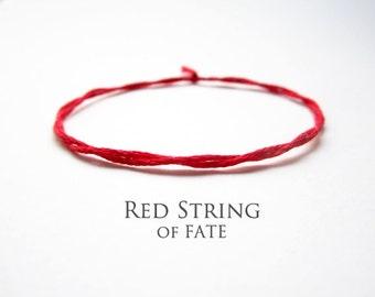 red string bracelet red string of fate mens string bracelet womens evil eye kabbalah minimalists jewelry red string bracelet FATE