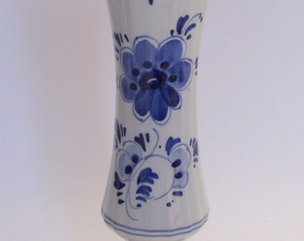 """Delft Hand Painted 7 1/8"""" Vase Made in Holland"""