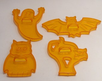 Amscam Vintage Halloween Cookie Cutters Ghost, Owl, Bat and Cat