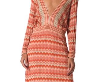 Vintage 1970s Striped Knit Dress Size: XS/S/M
