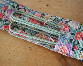 Vintage Coat Hangers - Foldable hangers with pretty floral travel pouch