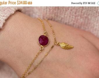 20% OFF Angel Wing Bracelet, Angel Bracelet, Gold Angel Bracelet, Gold Wing Bracelet, Dainty Bracelet, Simple Bracelet, Charm Bracelet, Boho