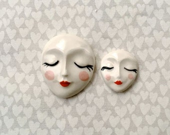 Mother & Daughter Faces - Ceramic Tiles