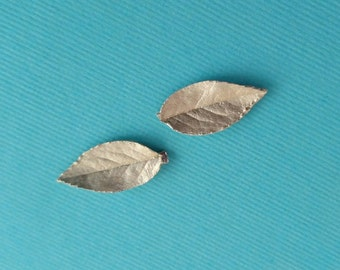 14k gold, leaf casting, rose leaves, jewelry making supplies YGUL034-5