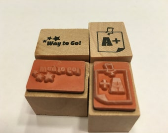set of way to go and A + rubber stamps, 20 mm (A13/4)