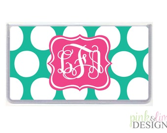 Personalized Checkbook Cover, Monogrammed Checkbook Cover, Design Your Own