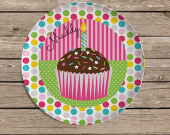 Birthday Plate, Childrens Personalized Melamine Plate, Monogrammed Plate, Birthday Gift, Easter, Christmas Gift, Baby Shower