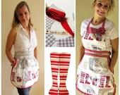 Retro Apron PDF Sewing Pattern (2 Styles)