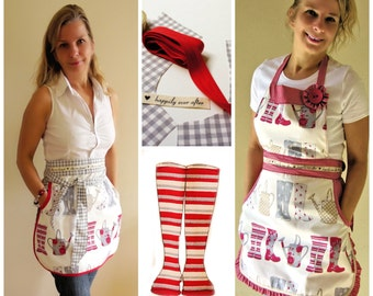 Retro Apron PDF Sewing Pattern (2 Styles)