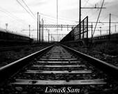 black and white photography the railroad - artistic photos etsyitaliateam