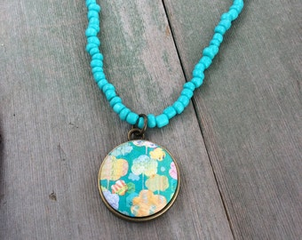 Perfect Turquoise Necklace/Boho/Modern/Southwestern/Beach