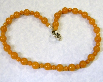 Peach Aventurine Beaded Necklace