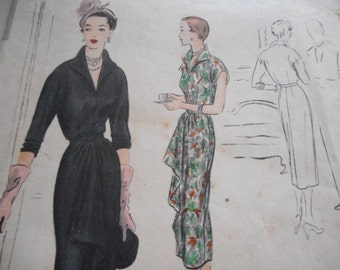 Vintage 1950's Vogue 4084 Special Design Dress Sewing Pattern, Size 12 Bust 30