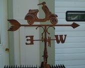 Custom Order * VESPA * Rustic Weathervane ~  N/S/E/W Directions - Hand Forged Pieces -USA Made - Built to Last