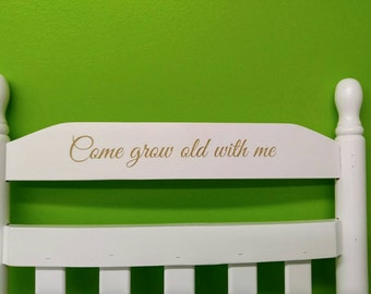 Solid ash wood rocking chair custom engraving perfect anniversary, retirement or wedding gift