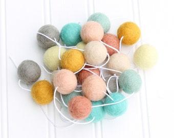 Felt Ball Garland, Pom Pom Garland, Gender Neutral, Mantle Garland, Nursery Decor, Felt Ball Bunting, Party Decor, Easter Garland, Playroom