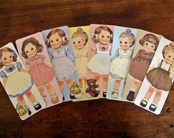 Cute Vintage Children Bookmarks - Set of 8 (Set 1)