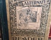 HOLD GWEN CRESSE Antique 1887 McGuffy's Alternate Forth Reader School Book