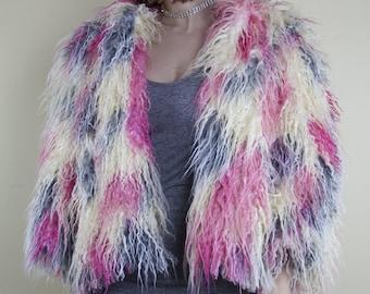 Desert Sky Faux Fur Coat