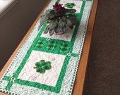 St Patrick's day table runner