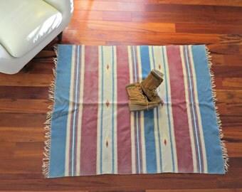 """Vintage Chimayo Wool Weaving Rug 49"""" x 57"""""""
