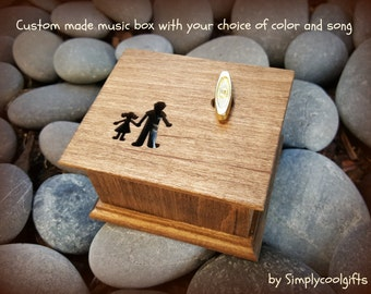Daddys girl, daddy and me, music box, musical box, custom music box, father of the bride gift, love dad, custom made music box