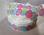 """Easter egg, cute chick, baby chick, Easter, Easter ribbon, Easter craft supplies, Wholesale holiday ribbon, 7/8"""" Ribbon, RN14825"""