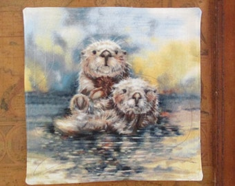 Otter Love Quilted Mug Rug