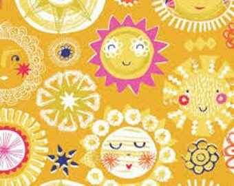 Fat quarter cotton fabric Sunshine by Dashwood studio -Rain or shine collection, fabric by the metre  - ships from Ireland