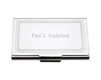 Engraved Charleston Silver Business Card Case