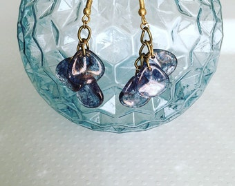 Dangle earrings. Purple Dangling Earrings. Drop Earrings. Purple Earrings. Boho Jewelry. Sugarplum Gallery.