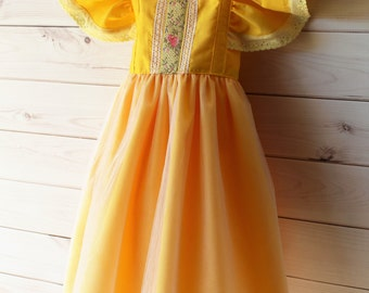 Belle Dress - yellow Princess Dress - Belle costume - princess costume - yellow princess costume - Christmas princess dress - princess -