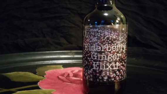 Elderberry Ginger Elixir: Delicious Remedy for Immune Support with Yarrow & Self-Heal Flower Essence and Vermont Honey